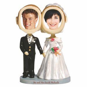 Custom Imprinted Bride And Groom Bobbleheads!
