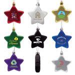 Custom Shatter Resistant Flat Star Ornament