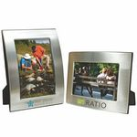Custom 5 x 7 Brushed Silver Curved Frame