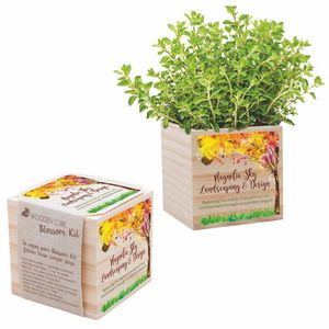 Wooden Cube Blossom Kit w/Seed Packet & Cube Planters