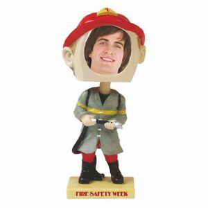 Custom Printed Fireman Bobble Head Picture Frames