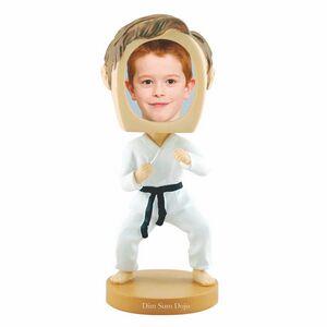 Custom Printed Martial Arts Bobble Head Picture Frames!