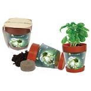 Custom Printed Basil Herb Plant Kits!