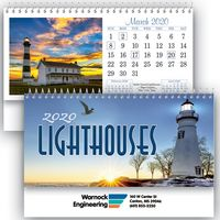 Lighthouses Standard Desk Calendar
