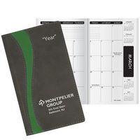 Duo Curve Academic Monthly Pocket Planner