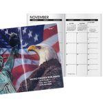 Custom Patriotic Liberty 2 Year Monthly Pocket Planner