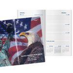 Custom Patriotic Liberty Work Weekly Pocket Planner w/4 Color Map