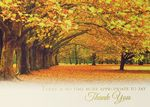 Custom Autumn In The Park Thanksgiving Greeting Card