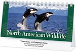 Custom North American Wildlife Standard Desk Calendar