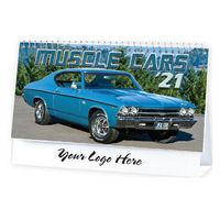 Muscle Cars Standard Desk Calendar