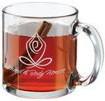 Custom Glass 13 Oz. Clear Mug