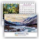 Custom Deluxe Scenes Cover Desk Calendar