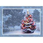 Custom Christmas Tree Glow Holiday Greeting Card
