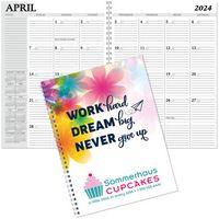 Hdi™ Full Color Spiral Desk Planner 7X10