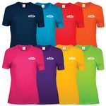 Custom Screen Printed Ladies' Color T-Shirts