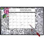 Custom Doodle Coloring Deskpad Calendars