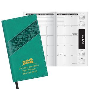 Duo Swirl Academic Monthly Pocket Planner