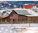 Custom American Glory Stitched Wall Calendar