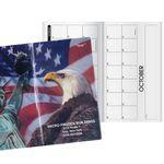 Custom Patriotic Liberty Horizontal Monthly Pocket Planner