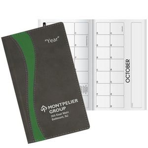 Duo Curve Horizontal Monthly Pocket Planner