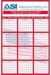Custom Patriotic Daily Date Calendar w/ Inspirational Message
