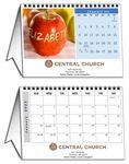 Custom In The Image 12 Image Horizontal Tent Desk Calendar (8.5