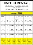 Custom Contractor's Commercial Wall Calendar w/ Color Bars