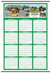 Custom Custom Color Year-at-a-Glance Wall Calendar (27