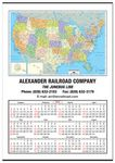 Custom Jumbo United States Map Wall Calendar