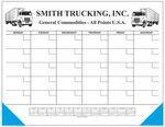 Custom Jumbo 50 Sheet Weekly Desk Planner w/ Memo Blocks & Calendar (Monthly Grid)