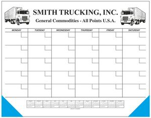 Jumbo 50 Sheet Weekly Desk Planner w/ Memo Blocks & Calendar (Monthly Grid)