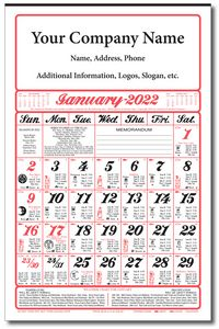 Almanac Calendar (Full Size / Six Sheet) - Industries Best Price