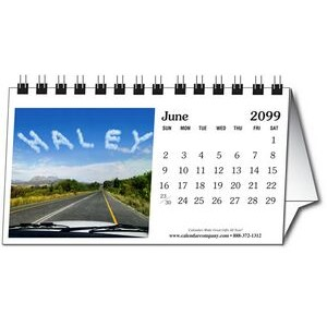 "In the Image 12 Image Horizontal Tent Desk Calendar (5.5""x3"")"