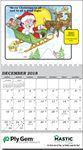 Custom Safety Sam Stock Calendar w/ 12 Fun Illustrations