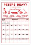 Custom Large Contractor's Commercial Wall Calendar
