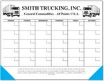 Custom Jumbo 25 Sheet Weekly Desk Planner w/ Columns & Calendar (Monthly Grid)