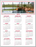 Custom Re-positionable Year At Glance Calendar w/Full Color Custom Picture