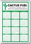 Jumbo Yearly View Commercial Wall Calendar w/ Top Ad