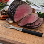 Custom Meat & Poultry Carving Fork w/ Black Stainless Steel Resin Handle