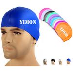 Custom Waterproof Silicone Swimming Caps / Silicone Solid Swim Cap