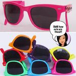 Collapsible Frame 2 Tone Sunglasses W/ UV400 Lenses