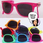 Collapsible Frame 2 Tone Sunglasses W/ UV400 Lenses