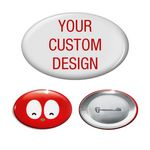 Custom Printed Oval Shaped Badges and Buttons