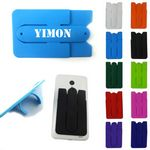 Custom Promotional Custom 2 in 1 Silicone Cell Phone Wallet Stand Combo