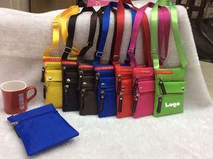Mini Passport Bag W/ Adjustable Strap & Zippered Pouch Inside.