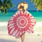Custom Round Beach Towel