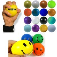Customized Smile PU Foam Stress Reliever Squeeze Toy