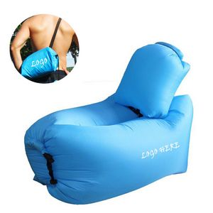 Inflatable Lounger Portable Air Couch Beach Lounger with Pillow -  GWCW0076SG - IdeaStage Promotional Products 9236de4adf912