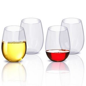 Plastic Stemless Wine Glasses 15 Oz