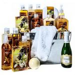 Custom Spa & Champagne Passion Basket